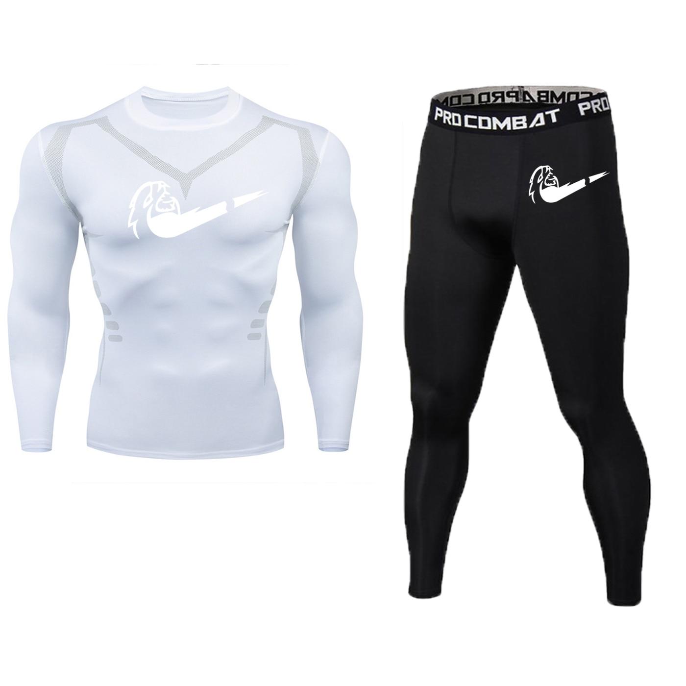 Running Sports 3d Compression Shirt Men's Gym Fitness Long-sleeved T-shirt Running Training Tight Tshirt Top Men's Quick-drying
