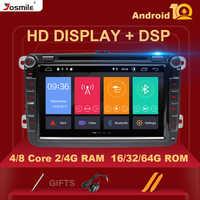 IPS DSP 64GB 2 din Android 10 multimedia para coche rápido Yeti VW passat b6 golf 4 5 6 polo tiguan Seat Altea Amarok Toledo Radio