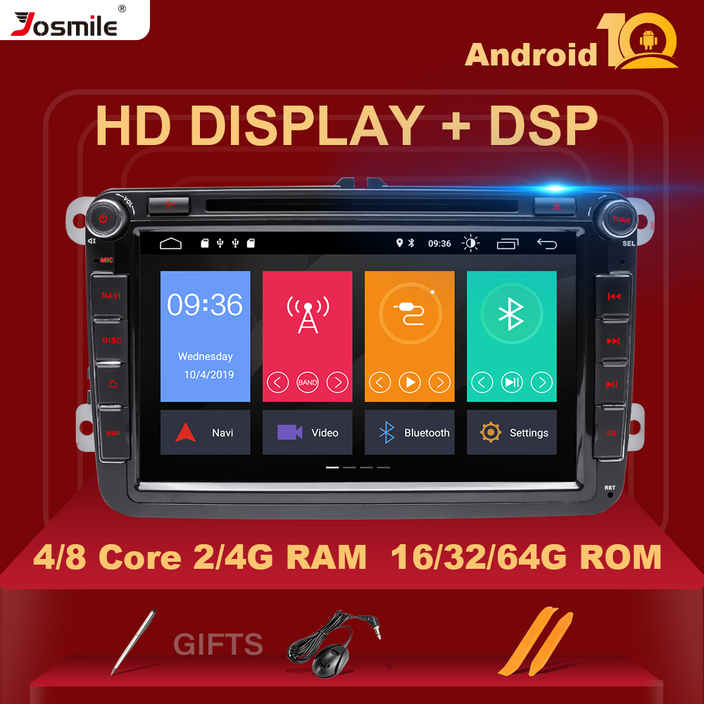 IPS DSP 64GB 2 din Android 10 Car multimedia For Rapid Yeti VW passat b6 golf 4 5 6 polo tiguan Seat Altea Amarok Toledo Radio image