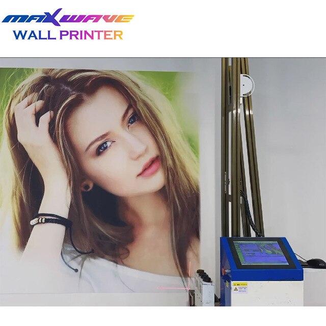 طابعة رسوم حائط حبر عمودي للأشعة فوق البنفسجية ثلاثية الأبعاد طابعة نافثة للحبر جداريات 1