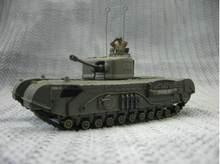 Fov wwii britânico churchill tanque de infantaria weathering versão 1/72 diecast modelo tanque acabado