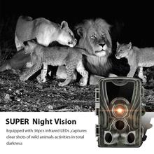 Hunting Camera Photo Trap 16MP 1080P IP65 Wildlife Trail Night Vision Thermal Imager Video for Scouting Game pr200 hunting camera photo trap 12mp wildlife trail night vision trail thermal imager video cameras for hunting scouting game