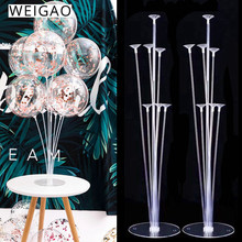WEIGAO 1set/2Set Balloon Stand Birthday Balloons Arch Stick Holder Wedding Baloon Globos Birthday Party Decoration Kids Ballon