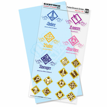 5 sets/pack High Quality Anime Stickers Fate Grand Order Logo Waterproof Clear Stickers for Moto Car Pad Phone Trunk Guitar