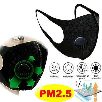 PM 2.5 Face Mask Anti Haze Dust Flu Breathable Mouth Mask Activated Carbon Filter Respirator Washable Reusable Masks New