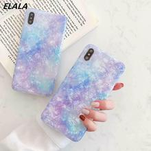 ELALA Glitter Phone Case For iPhone XR X XS Max Cover Cartoon Cute Cat Animal Patterned Marble 6 S 7 8 Plus