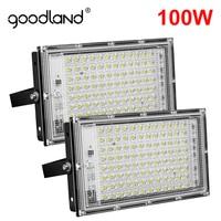 Goodland-focos de luz LED para exteriores, iluminación de 100W, Foco LED para Exterior, proyector, lámpara de calle, pared, jardín, 220V
