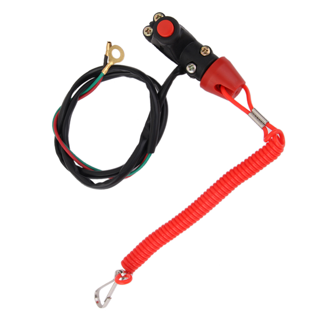 Motorcycle Engine Kill Stop Switch & Safety Tether Lanyard Rope For Mini Moto Dirt ATV Quad 4 Wheeler Scooter