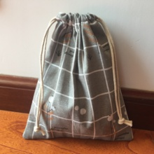 1 шт. хлопчатобумажная ткань, мешок со шнурком многоцелевой мешок вечерние подарочные сумки геометрические проверить дерево YI