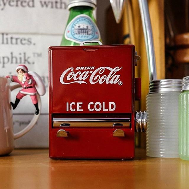 Caja de palillos de Cola Retro con personalidad, máquina expendedora estilo prensado, recipiente para palillo de dientes, Dispensador de plástico, soporte decorativo