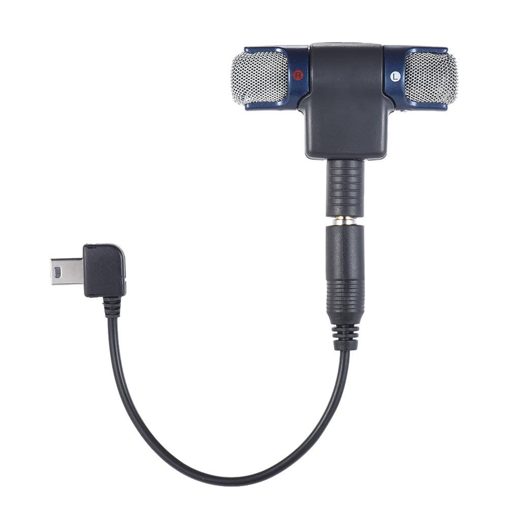 Внешний стерео микрофон с 3,5 мм до мини usb Кабель адаптер для GoPro Hero 3 3 + 4 для AEE спортивной экшн камеры Mic|Микрофоны|   | АлиЭкспресс