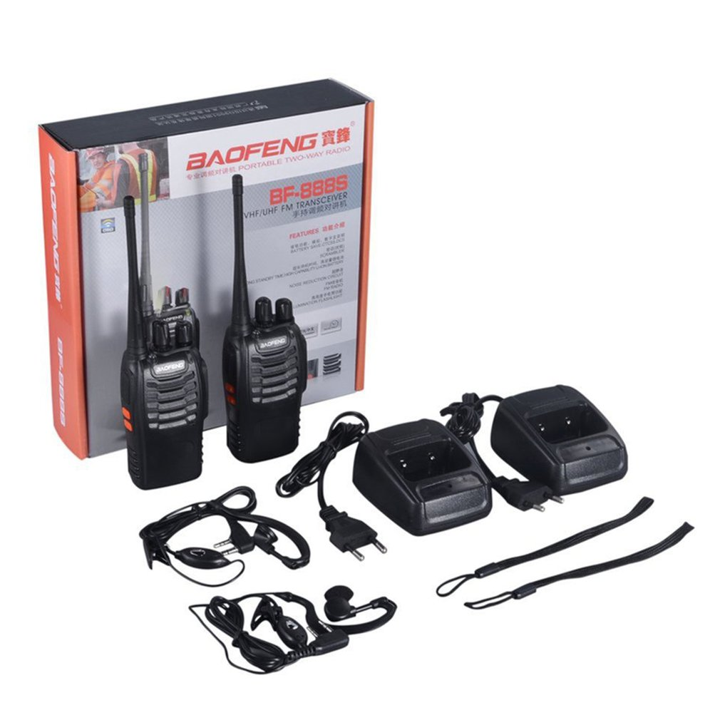 2 PCS Baofeng BF-888S Walkie Talkie 5W Two-way Radio Portable CB Radio UHF 400-520mhz Comunicador Transmitter Transceiver /