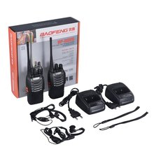 2 PCS Baofeng BF-888S Walkie Talkie 5W Two-way Radio Portable CB Radio UHF 400-520mhz Comunicador Transmitter Transceiver / 2pcs quansheng tg uv2 plus walkie talkie 10km 10w 4000mah ham radio uhf vhf radio ham hf transceiver cb radio tg uv2 2 way radio