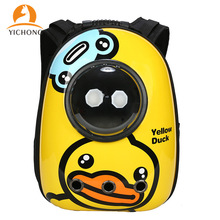 Backpack Pet-Carrier-Bag Puppy Travel Outdoor Breathable YC326 Capsule Cats YICHONG Cartoon-Print