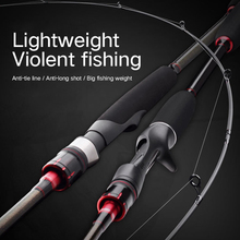 Carbon Spinning Fishing Rod 2.1m baitcasting fishing rod travel ultra light casting spinning lure 9g-30g M/ML/MH
