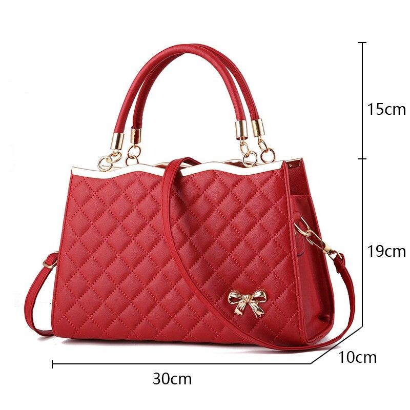 Image 3 - New Fashion Ladies Crossbody Bags For Women 2019 Plaid Flap Zipper Female Handbags  Luxury Brand Women Shoulder Messenger Bags-in Shoulder Bags from Luggage & Bags