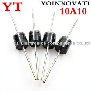 Image 1 - 200 unids/lote 10A10 10A 1000V 1KV 10 R 6 Amp diodo Axial rectificador.