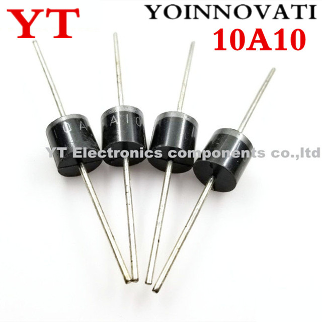 200 unids/lote 10A10 10A 1000V 1KV 10 R 6 Amp diodo Axial rectificador.