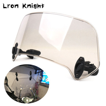Universal Motorcycle Scooter Adjustable Clip On Windscreen Windshield Extension Spoiler Wind Deflector Adjustable Lockable universal motorcycle windshield airflow adjustable windscreen extension deflector windshield spoiler small