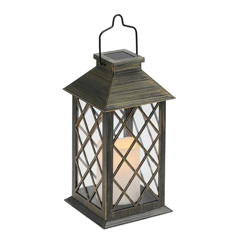 Solar Candle Light Charging Waterproof Outdoor Garden Hanging Lantern Lighting