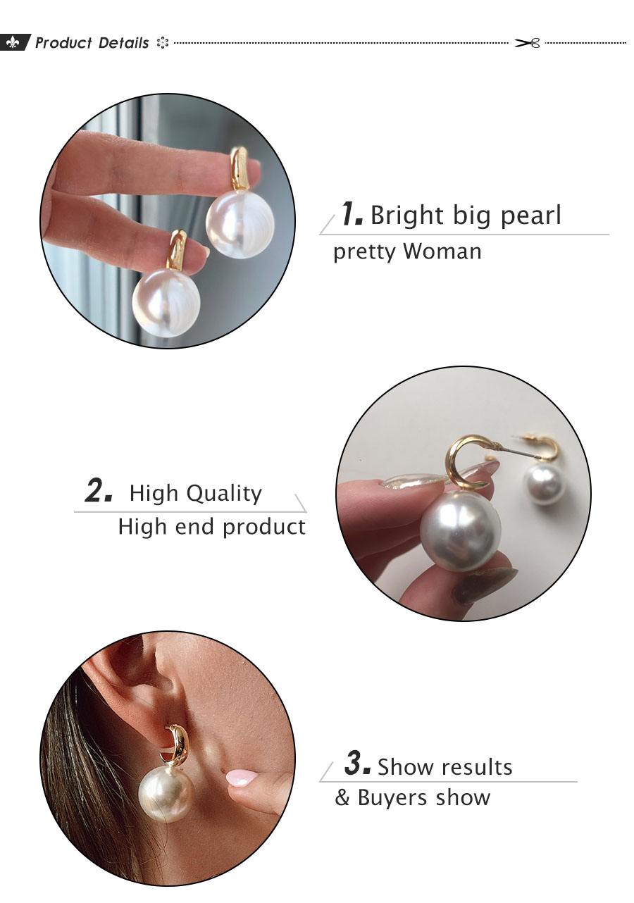 H9933e121a81f482c868e02263695299e1 - VKME Simulated Pearl earrings For Women NEW Earrings Vintage Gold Jewellery Wedding Gifts