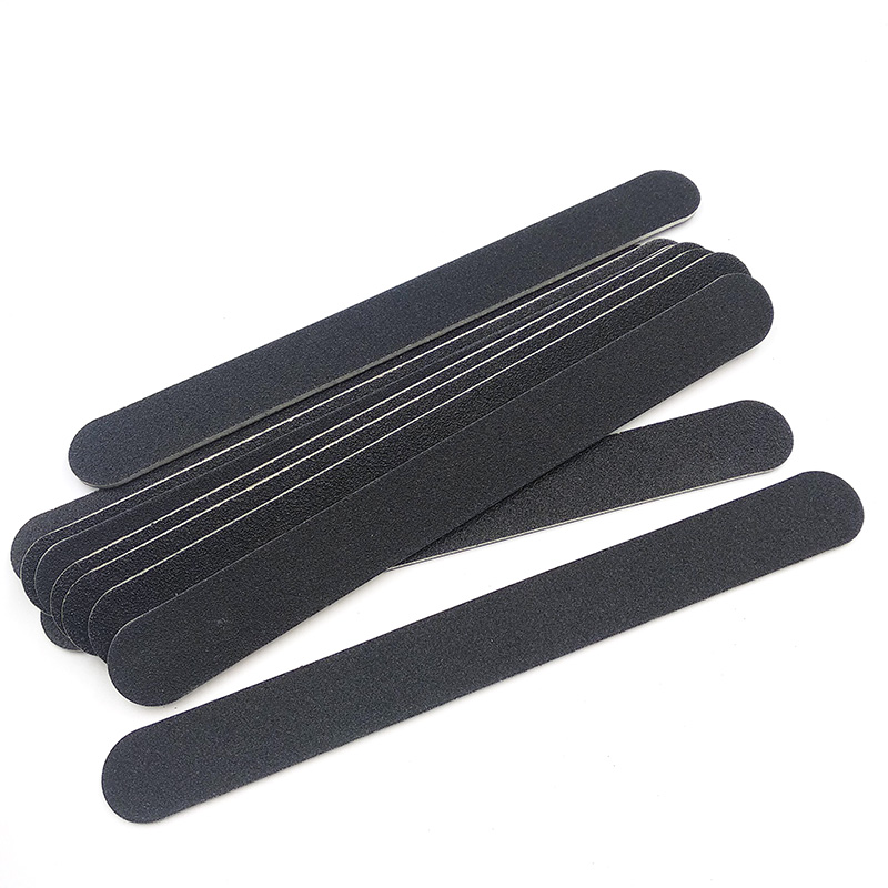 10pcs Nailfile Professional Nail Buffer Sanding Files Sandpaper Buffing Round Head Thin Straight Lime Angle