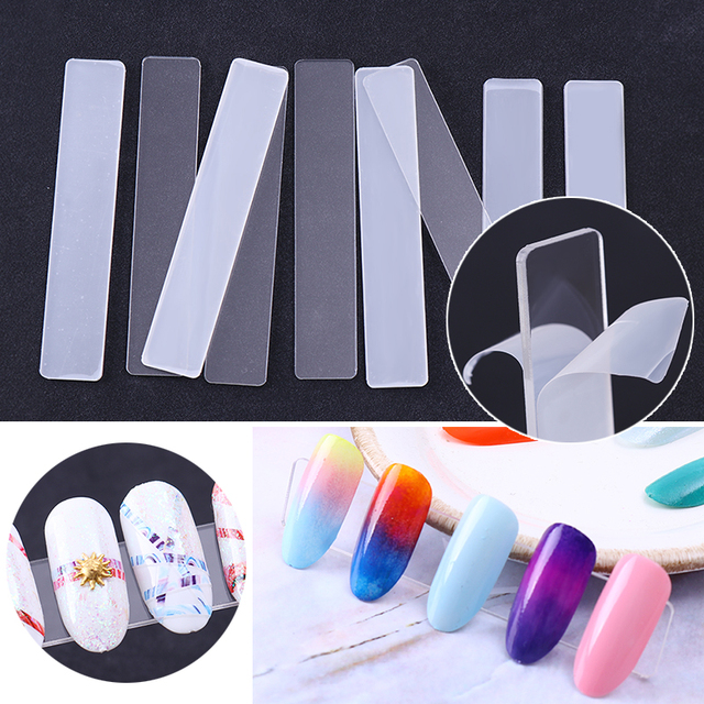 False Nails Display Clear Acrylic Stand Holder For Nails With Protective Film Manicure Nail Art Tips Tools 5PCS/Set