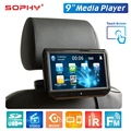 New 9 inch Touch Screen Auto Car Headrest Monitor Seat Back MP5 Video Player USB/SD/IR/FM/Bluetooth Built-in Speakers SH9088C-P5
