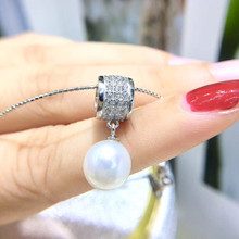 Fashion 925 Silver Pendant Base Settings Component Findings Women's Parts for Oyster Edison Pearl Coral Jade Beads Stones(China)