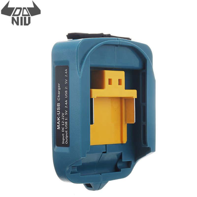 DANIU DC 12-<font><b>22V</b></font> USB Power Battery Charger <font><b>Adapter</b></font> Converter for Makita ADP05 18V 14.4V Li-ion Battery BL1415 BL1430 BL1815 image