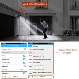 Image 3 - Techage H.265 5MP 보안 POE IP 카메라 인간의 탐지 야외 양방향 오디오 비디오 감시 AI 카메라 ONVIF NVR 시스템