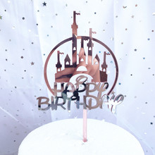 Acrylic Cake Topper Castle Cake-Decorations Unicorn Party Mermaid Baby Shower Happy-Birthday