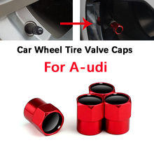 4 pçs roda de carro pneus tampas da válvula ar haste capa com cor logotipo da marca para audi a4 a3 a6 q3 q7 tt s linha sline s4 acessórios do carro