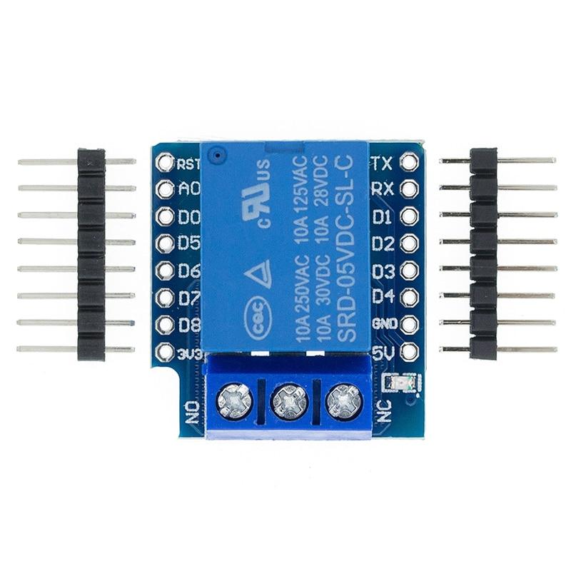 D1 мини-реле Щит 1 канал Wemos D1 мини триггерный релейный модуль для ESP8266 макетная плата Elecfans