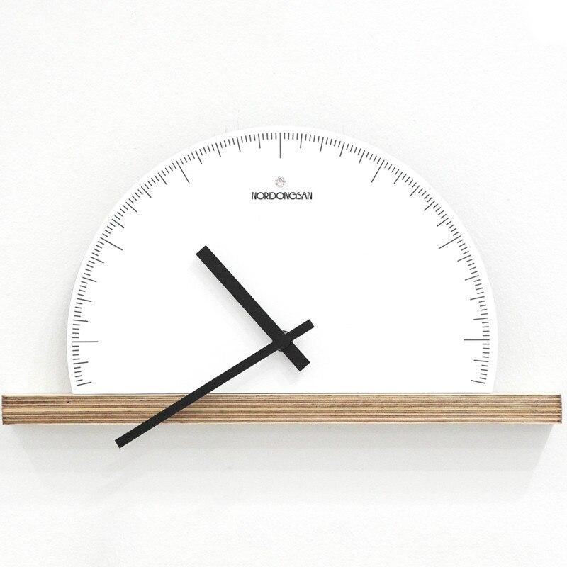 3d Wall Watch Mechanism Creative Wood Wall Clock Silent Living Room Bedroom Fan-shaped Modern Clock Wanduhr Home Decor SC094