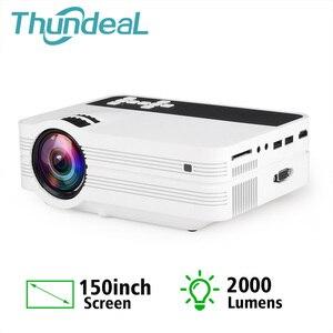 Image 1 - ThundeaL מיני מקרן UB10 נייד 3D LED מקרן 2000Lumens טלוויזיה קולנוע ביתי LCD וידאו USB VGA תמיכת 1080P HD Beamer