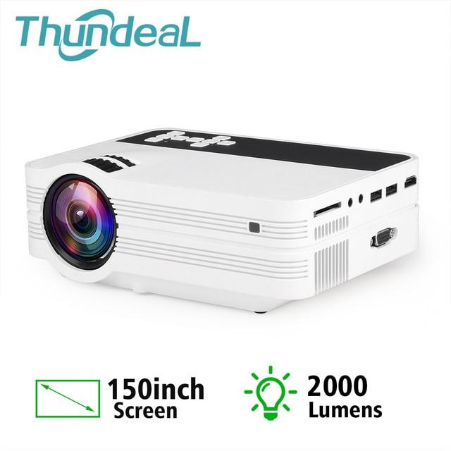 ThundeaL מיני מקרן UB10 נייד 3D LED מקרן 2000Lumens טלוויזיה קולנוע ביתי LCD וידאו USB VGA תמיכת 1080P HD Beamer