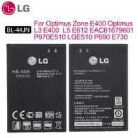 Batería de teléfono BL-44JN Original LG para Optimus Zone E400 Optimus L3 E400 L5 E612 EAC61679601 P970 E510 LGE510 P690 E730 1500mAh