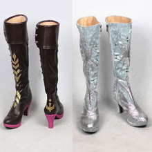 2020 New Snow Queen Prince Anna Elsa Cosplay Wedding Shoes Anime Boots shoemaker