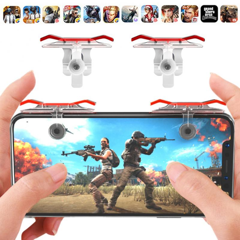2PCS E9 L1 R1 Gaming Trigger Smart Phone Games Shooter Controller Fire Button Handle For Rules Of Survival/Knives Out