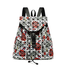 New Retro Geometric Shoulder Bag Fashion Laser Printing Personal Backpack in 2019