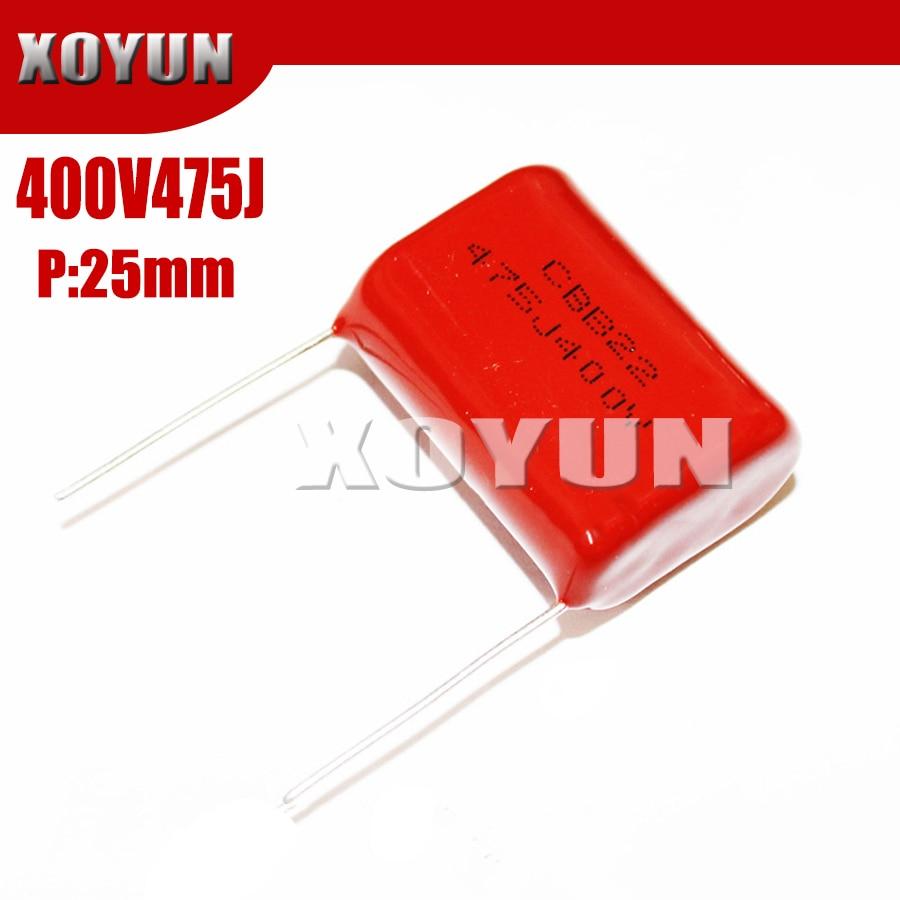5PCS 400V475J 400V 475J 475J400V Pitch 25MM 400V 4.7UF CBB Polypropylene Film Capacitor