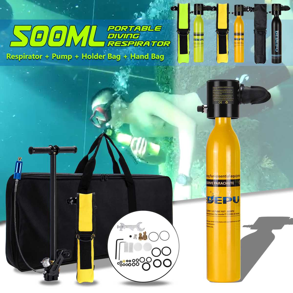 Tube Mouthpiece Diving Regulator Snorkel Scuba Silicone Clear Underwater S