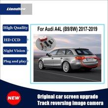 Liandlee For Audi A4L B9 8W 2017-2019 Original Car Screen Upgrade Reversing Image Camera Track Handle Rear View