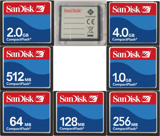 Sandisk Compact Flash CF Card Memory Card 32MB 64MB 128MB 256MB 512MB 1GB 2GB CF For CNC IPC Numerical Control Machine Used
