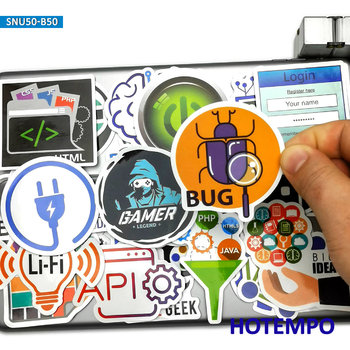 50pcs Internet Programs Programmers Big Data HTML5 Software Stickers for Mobile Phone Laptop Suitcase Skateboard Decal - discount item  30% OFF Classic Toys