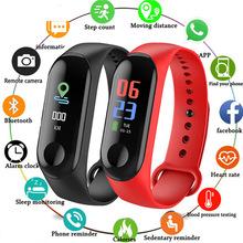 Smart watch Sport bransoletka opaska tętna Monitor ciśnienia krwi krokomierz inteligentne zegarki na rękę mężczyźni kobiety dla Android iOS tanie tanio GIMSR Cyfrowy Podwójny Wyświetlacz QUARTZ Z tworzywa sztucznego 5Bar CN (pochodzenie) Klamra 10mm Hardlex GS0015 25cm