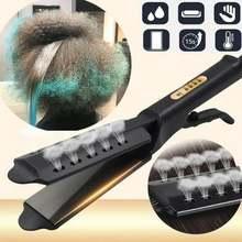 Выпрямитель для волос с быстрым нагревом и широкой панелью четырехступенчатая