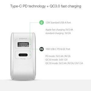Image 4 - BlitzWolf 30W typu C ładowarka do telefonu komórkowego na PD/QC3.0 + 2.4A podwójny USB szybka ładowarka ue przejściówka Adapter ForiPhone 11 PRO XR dla iPad biały