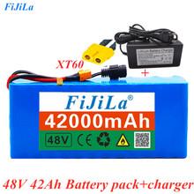 48V 42Ah 1000 watt 13S3P 18650 bateria MH1 54 6v e-bike skuter z 25A rozładowaniem BMS z + ładowarką tanie tanio fijila NONE CN (pochodzenie) 238 * 66 * 60mm 13s3p48V42Ah 42000mAh Laptop Li-ion